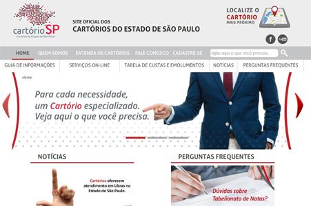 Site dos Cartórios do Estado de São Paulo